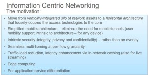 Information Centric Networking 5G