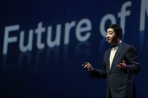 Ken Hu, Rotating CEO, Huawei, launches X Labs on first morning of Huawei's Mobile Broadband Forum.