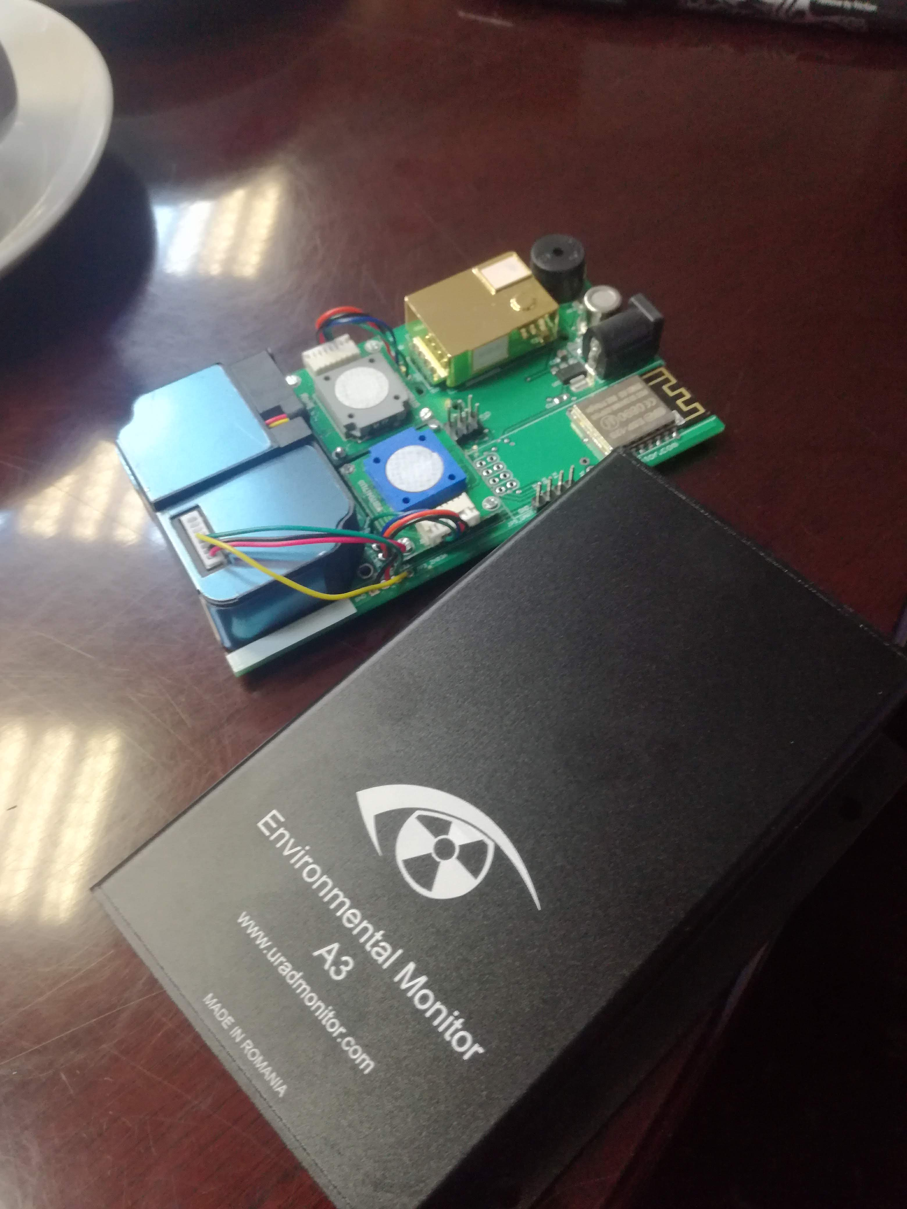 The air quality monitoring module