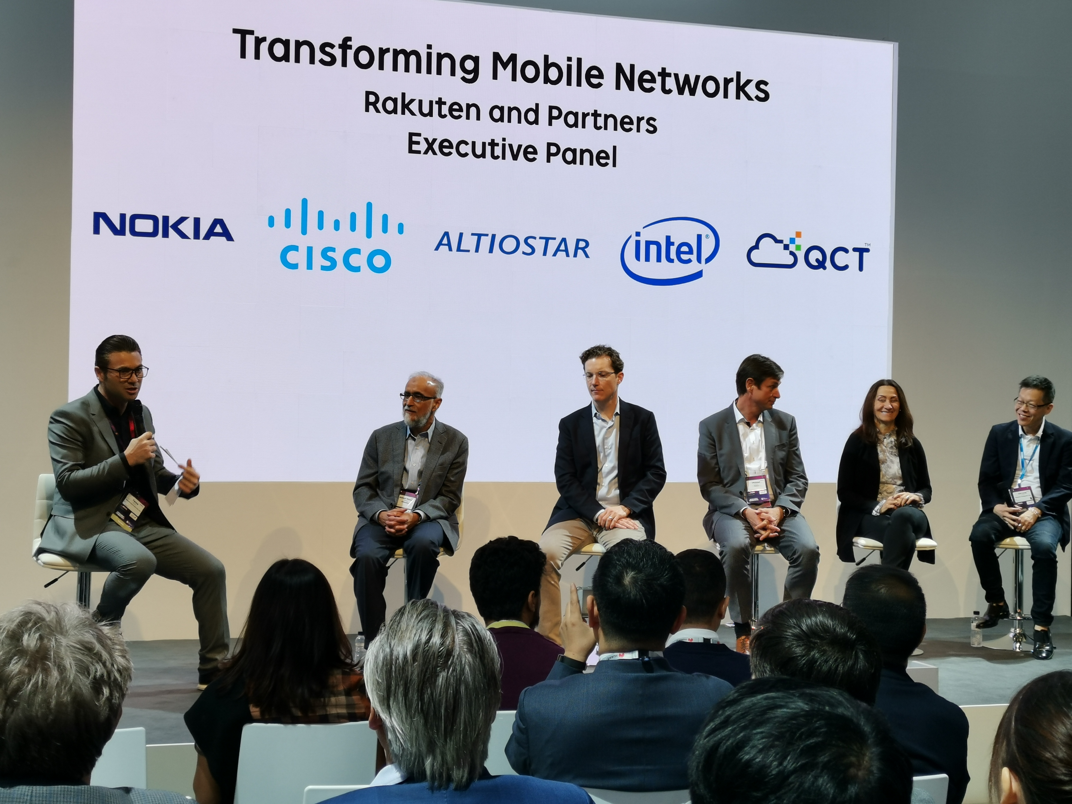 CTO Tareq Amin, far left, and five of his vendors