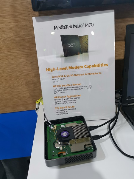 MediaTek dual mode NSA SA 5G chip